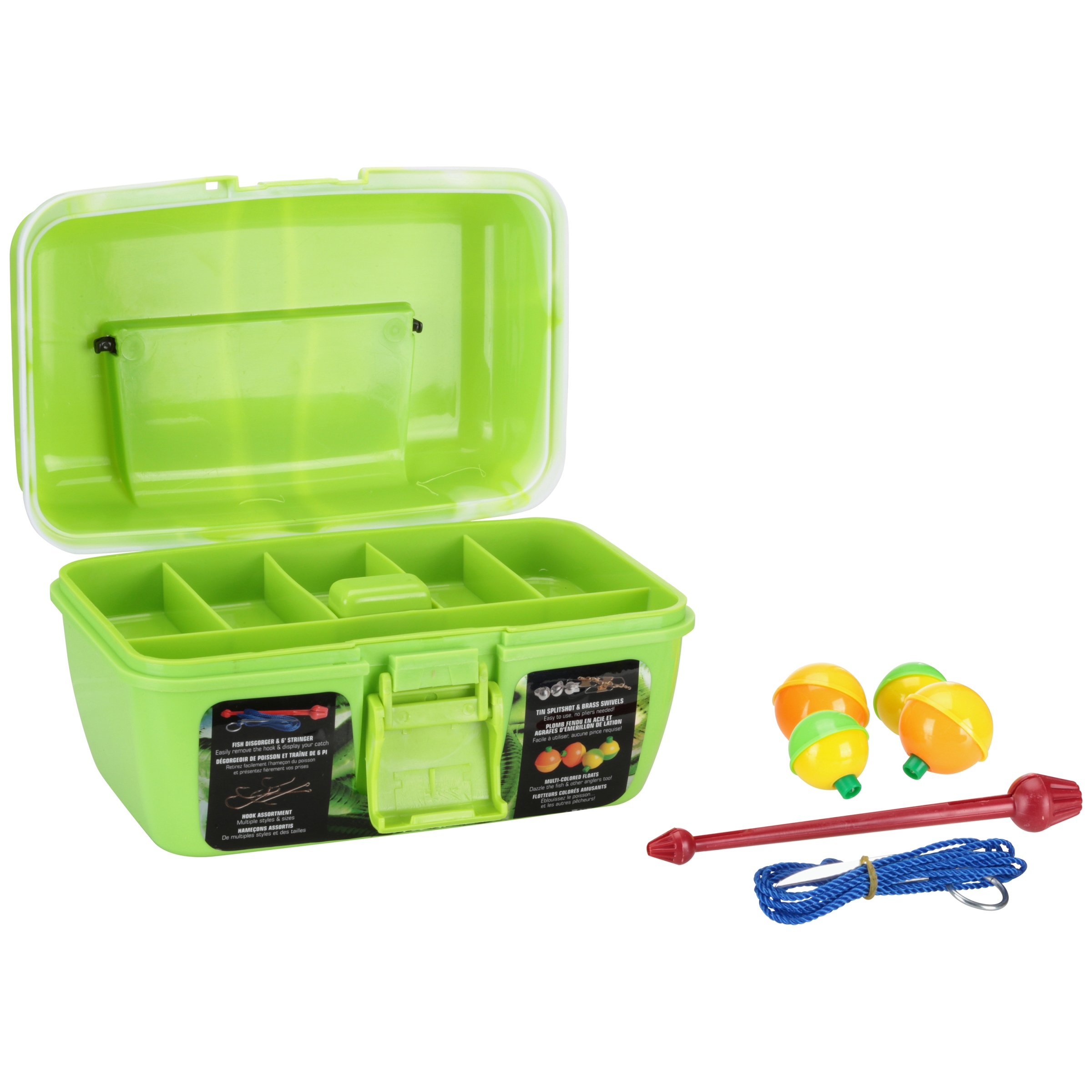 South Bend® Wormgear Green Tackle Assortment 88 pc Tackle Box