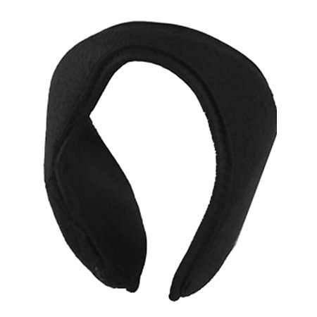 Unique Bargains Lady Men Fleece Ear Warmers Quilted Earmuffs Black