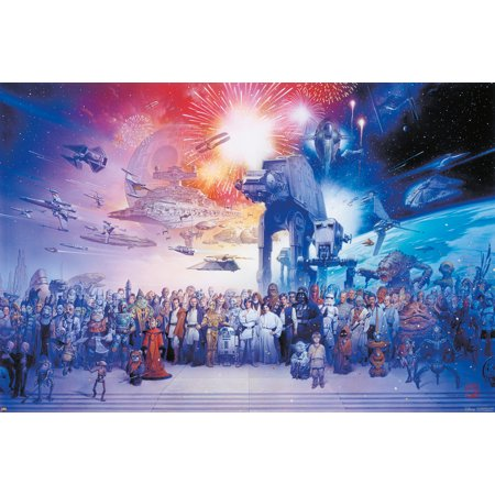 Star Wars Galaxies Ship (Star Wars: Episode I, II, III, IV, V & VI - Movie Poster / Print (The Star Wars Galaxy - All Characters, Ships & Vehicles) (Size: 36