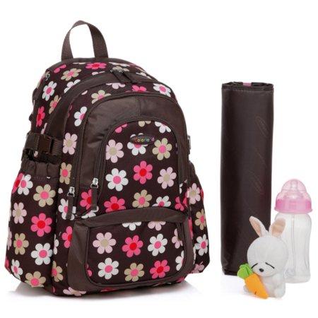 colorland functional backpack diaper bag french flower. Black Bedroom Furniture Sets. Home Design Ideas