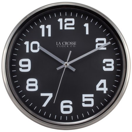 - La Crosse Clock 404-2631GM 12 Inch Round Metal Analog Wall Clock with Gunmetal Finish