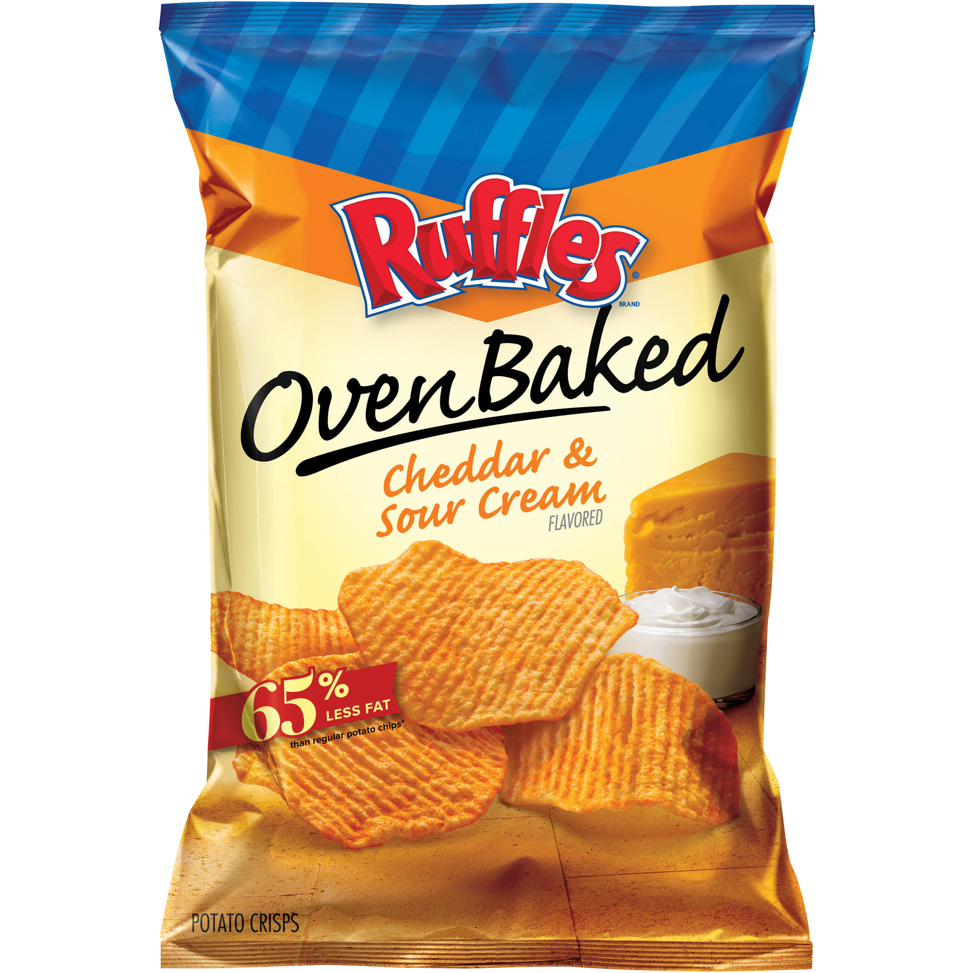 Ruffles Oven Baked Cheddar & Sour Cream Flavored Potato Crisps, 6.25 oz.