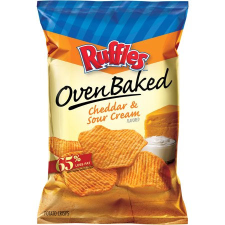 Ruffles Oven Baked Cheddar & Sour Cream Flavored Potato ...