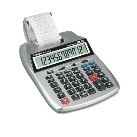 Canon P23 Dhv 12 Digit Printing Calculator  Purple Red Print  2 3 Lines Sec