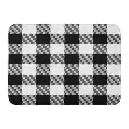 Kdagr Buffalo Lumberjack Plaid Pattern Check Black Casual