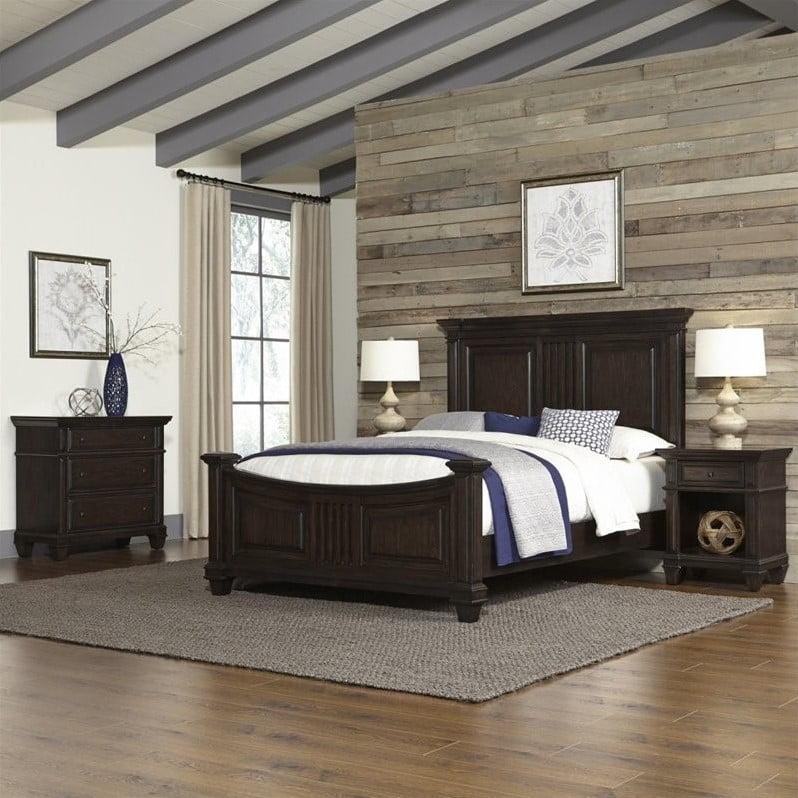home styles prairie home queen bed 4 piece bedroom set in