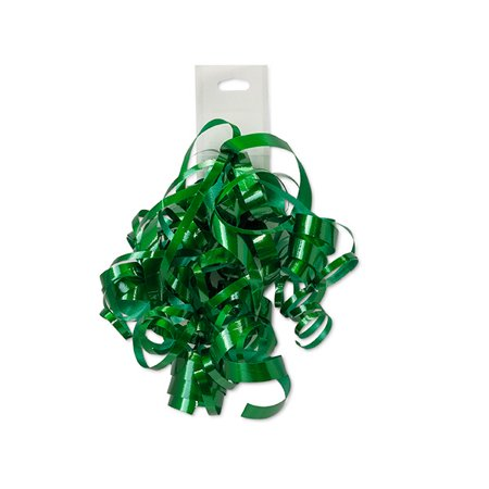 Emerald Green Decorative 5 inch Crimped Curly Ribbon Gift Bows, 24 pack - Curly Ribbon