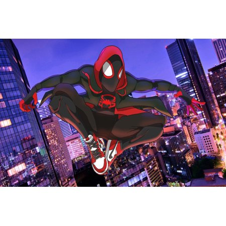 Spider-man Miles Morales Personalized Birthday Edible Frosting Image 1/4 sheet Cake (Birthday Wishes Cake Images With Name Editor)