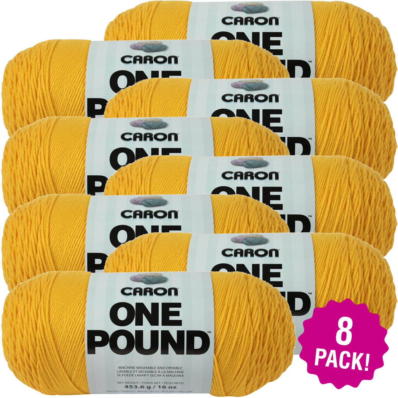 Caron One Pound Yarn - Sunflower, Multipack of 8