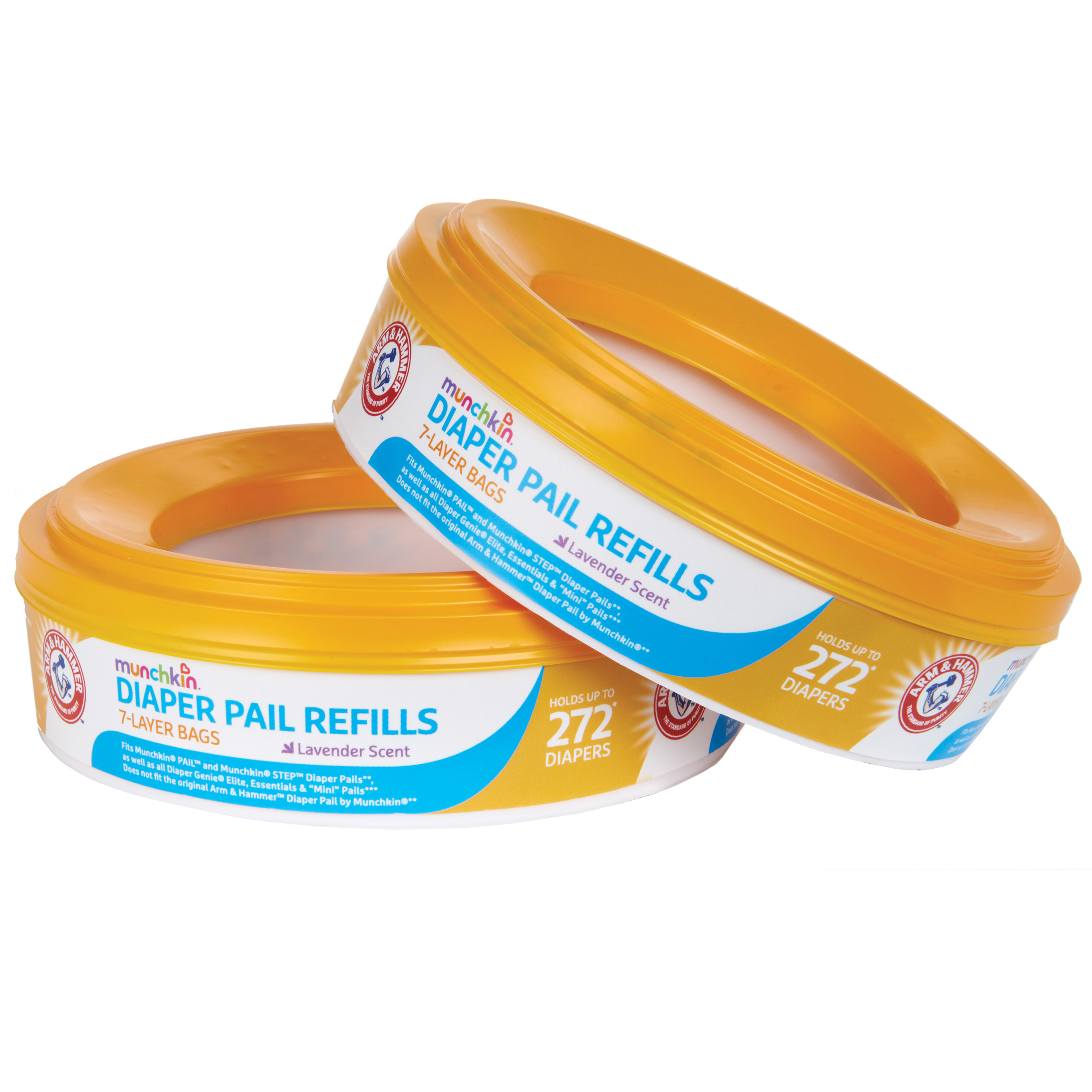 Munchkin Arm and Hammer Diaper Pail Refill Rings, 544 Count, 2 Pack
