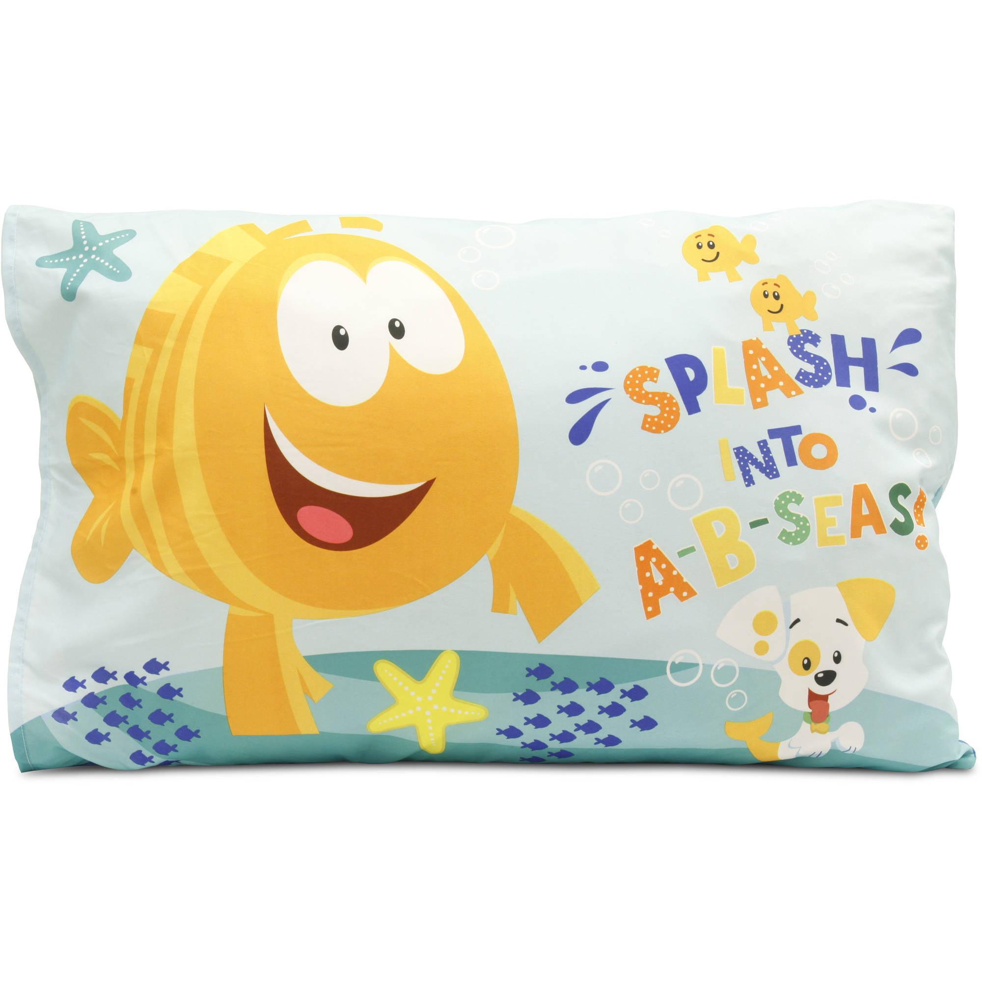 bubble guppies toddler bed set with bonu walmart com