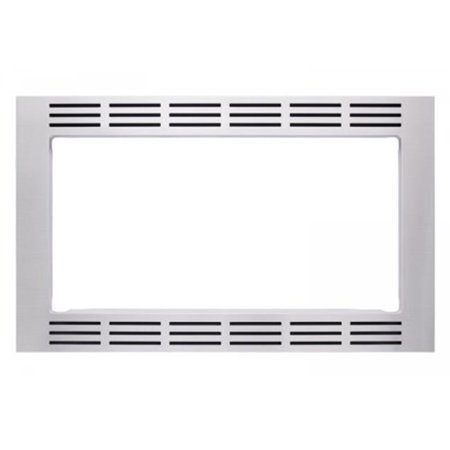 27 in. Wide Trim Kit for All 1.6cu.ft. Stainless Microwaves - Stainless (27 Inch Wall Oven Microwave Combo Reviews)