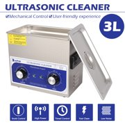 Commercial Ultrasonic Cleaner Large Capacity Stainless Steel with Heater and Digital Timer for Electronic Tool Jewelry Watch Glasses Rings Dental Lab Hospital Instruments (3L)