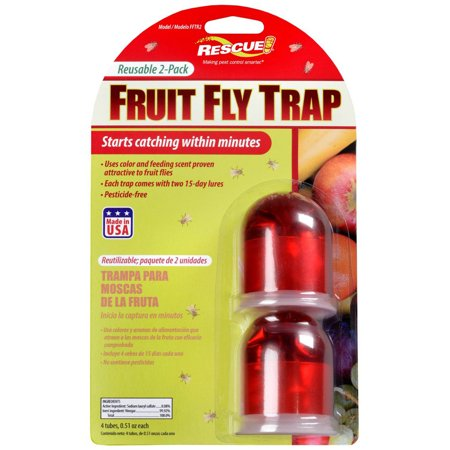 Rescue FFTR2-SF6 Fruit Fly Trap 2-Count - Walmart.com