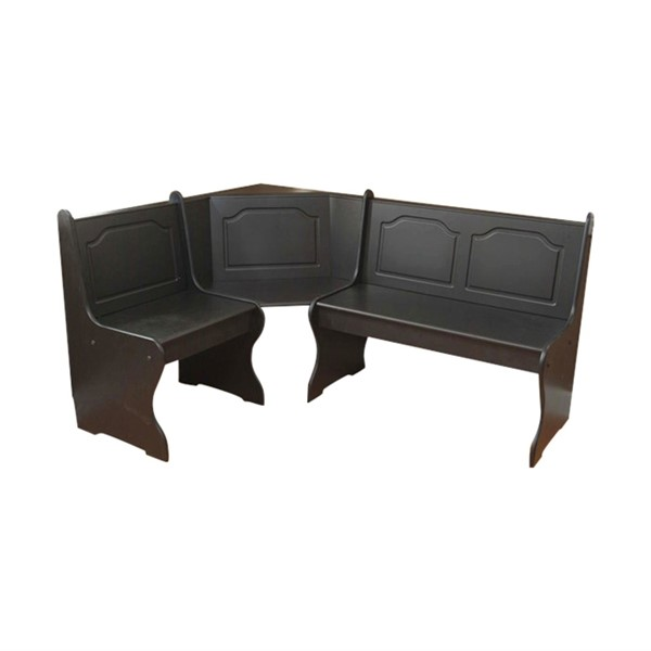 Merveilleux TMS Furniture 40095BLK Nook Corner Dining Bench