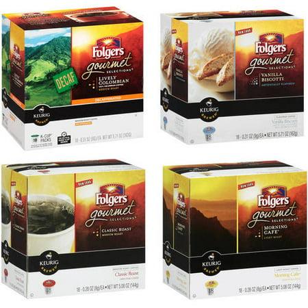 Folgers Coffee K- Cup Value Bundle,(Pick 2)