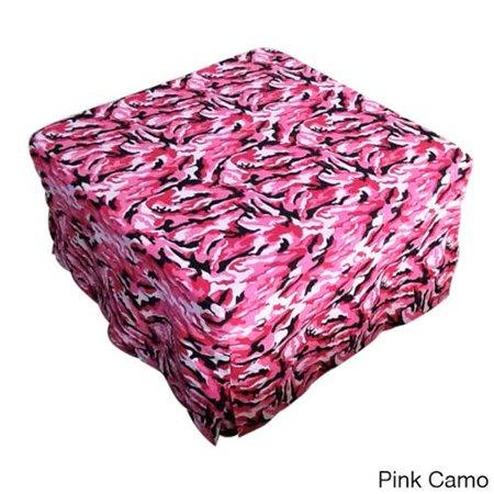 Memory Foam Sleeper Futon Ottoman Pink Camouflage