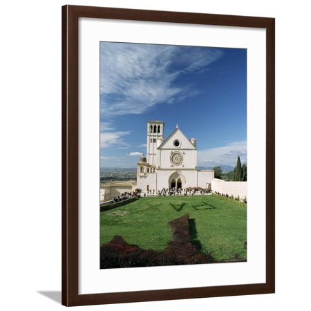 Basilica Di San Francesco, Where the Body of St. Francis was Placed in 1230, Assisi, Umbria Framed Print Wall Art By Sergio