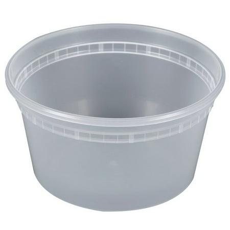 Pactiv Newspring Delitainer Polypropylene Round Heavy Gauge Deli Container Clear, 12 oz.   480/Case (Heavy Round Box)