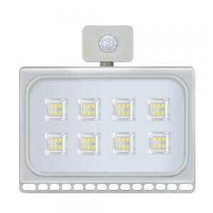 50W LED Flood Light Ultrathin Cool White with PIR Motion Sensor 110V