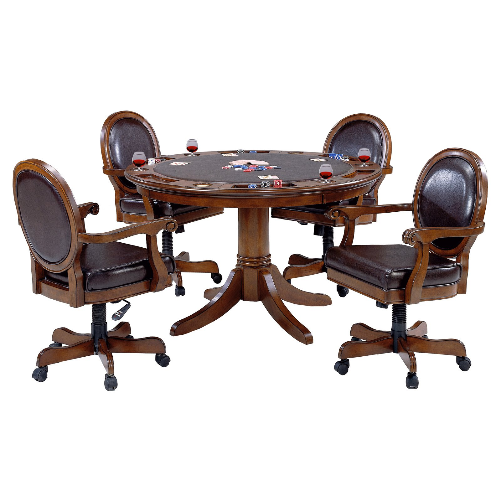 Hillsdale Warrington 5 Piece Game Table Set by Hillsdale
