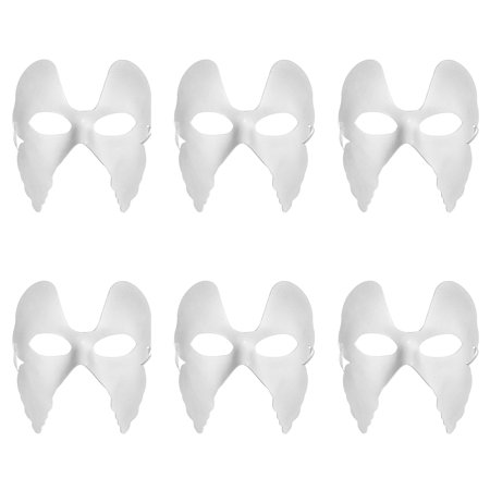 Aspire 6 PCS Blank DIY Masks Craft Paper Halloween Masquerade Face Mask Decorating Party Costume](Masquerade Mask Party City)