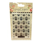 Sweet Paris Embossing Folder-Overall Damask-Esque Multi-Colored
