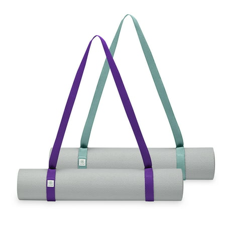 Gaiam Easy Cinch Yoga Mat Sling Purple Jam Maldive Asst