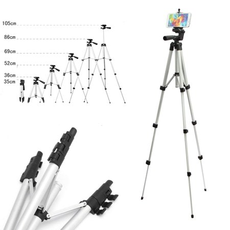VGEBY Phone & Camera Tripod Stand, Flexible Camera Tripod with Universal Smartphone Mount, 360° All-round 3-Way Head Tripod with Clip Holder for iPhone, Camera, Camcorder, Cell Phone