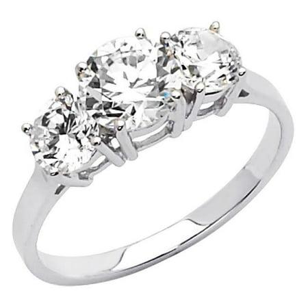 Jewelry 14k White Gold 1 3/4ct TGW Round-cut Diamonette Engagement Ring - image 1 of 1