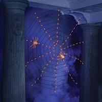 Orange Web Halloween Lights Set Of 100 Halloween Decoration