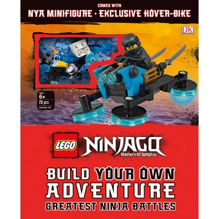 LEGO NINJAGO Build Your Own Adventure Greatest Ninja Battles : with Nya minifigure and exclusive Hover-Bike (Haynes Build Your Own V8 Model Engine)