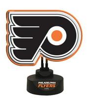 "13.5"" Orange and Black NHL Philadelphia Flyers Tabletop Neon Lamp"