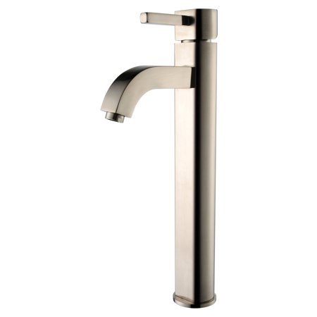 Kraus C-GVS-901-19mm-1007 Clear Aquamarine Glass Vessel Sink and Ramus Faucet