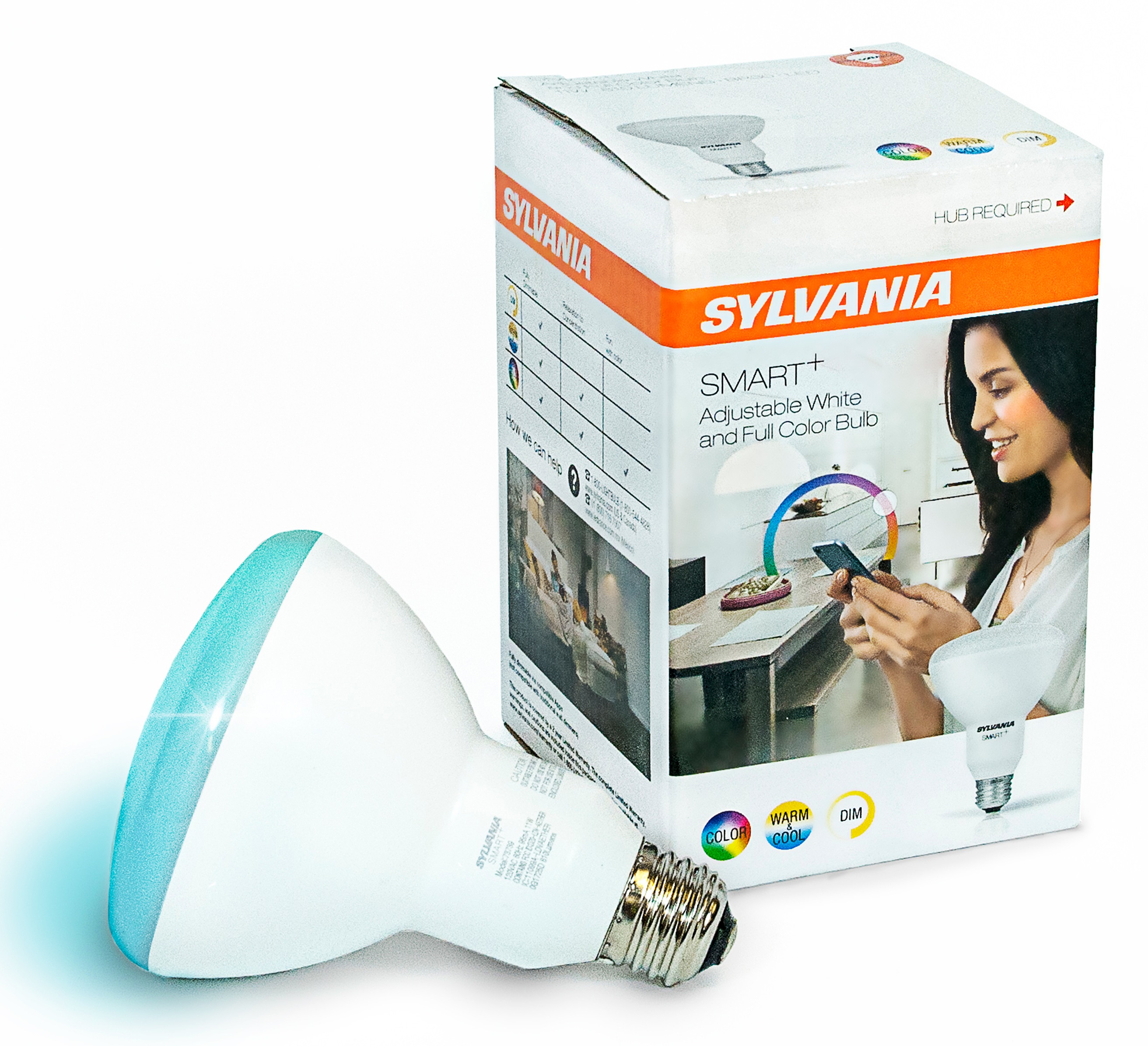 Sylvania SMART+ BR30 Smart Light Bulb, 60W Color LED, 1-Pack