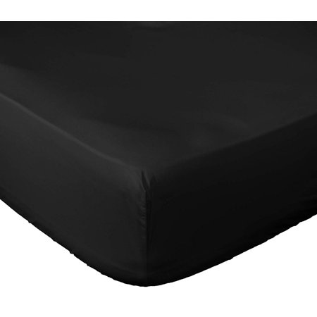 Microfiber Fitted Bed Sheet (King, Black) Wrinkle, Fade & Stain Resistant - Hypoallergenic- 1800 Series Fitted Queen Bed Sheet - Deep Pocket Bed Sheet- Lux Decor Collection