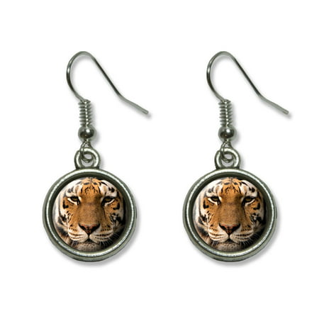 Bengal Tiger Face Dangling Drop (Lsu Tigers Post Earring)