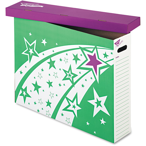 TREND File 'n Save System Chart Storage Box, 30-3/4 x 23 x 6-1/2, Bright Stars Design