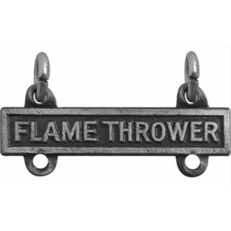 Army Qualification Bar Flame Thrower (Oxidized Finish)