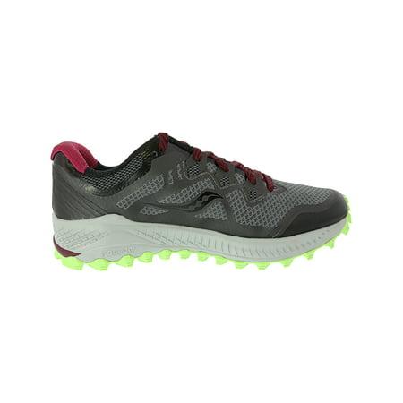 Saucony Peregrine 8 Running Shoe 9.5M Black Mint Berry