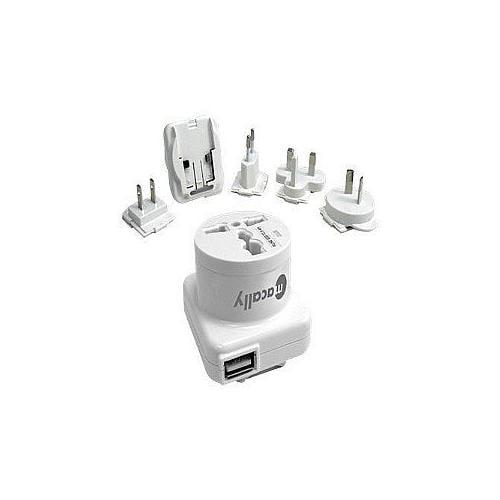 Macally PowerPal - Power adapter - AC / USB - for Apple iPhone 3G, 3GS, 4; iPod classic; iPod mini; iPod nano; iPod shuf