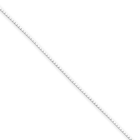 Diamond Cut Mirror Box Chain (0.6mm, Sterling Silver Octagon Mirror Box Chain Necklace, 20 Inch )