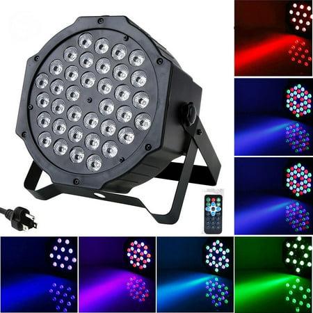 HURRISE 72W 36LED RGB Stage Light DJ Party Disco Club Lighting DMX512 with Remote Control US Plug