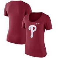Philadelphia Phillies Nike Women's Logo Scoop Neck T-Shirt - Red