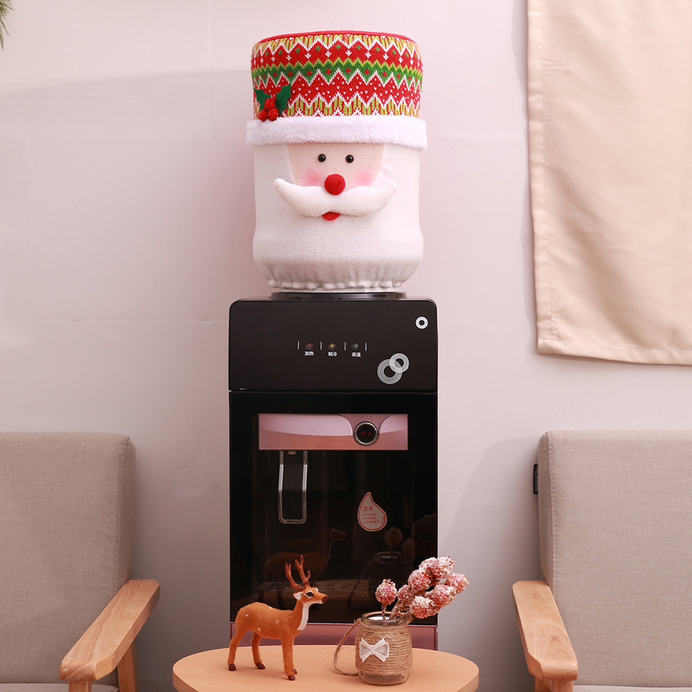 Christmas Dust Cover Water Bucket Dispenser Container Bottle Purifier Xmas Decor