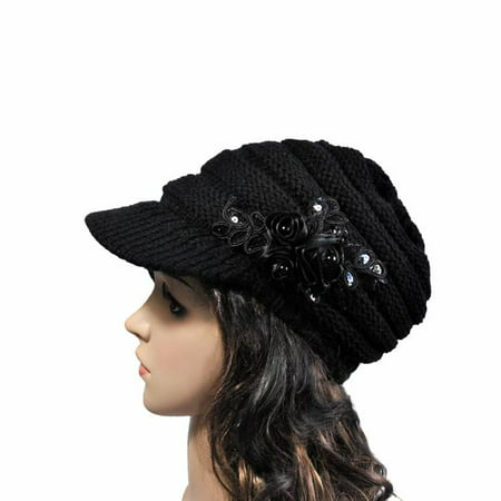 Outtop 2016 Korean version of the new autumn and winter ladies hat brim Sequin (Korean Glasses Trend 2016)