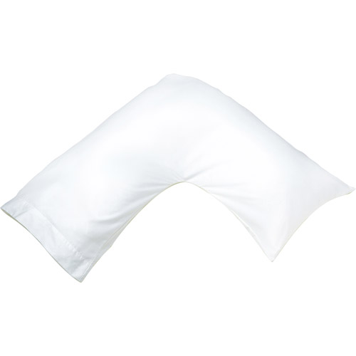 180 Thread Count Cotton Boomerang Pillowcase in White