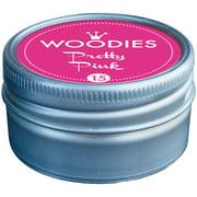 Woodies Dye-Based Ink Tin-Pretty Pink