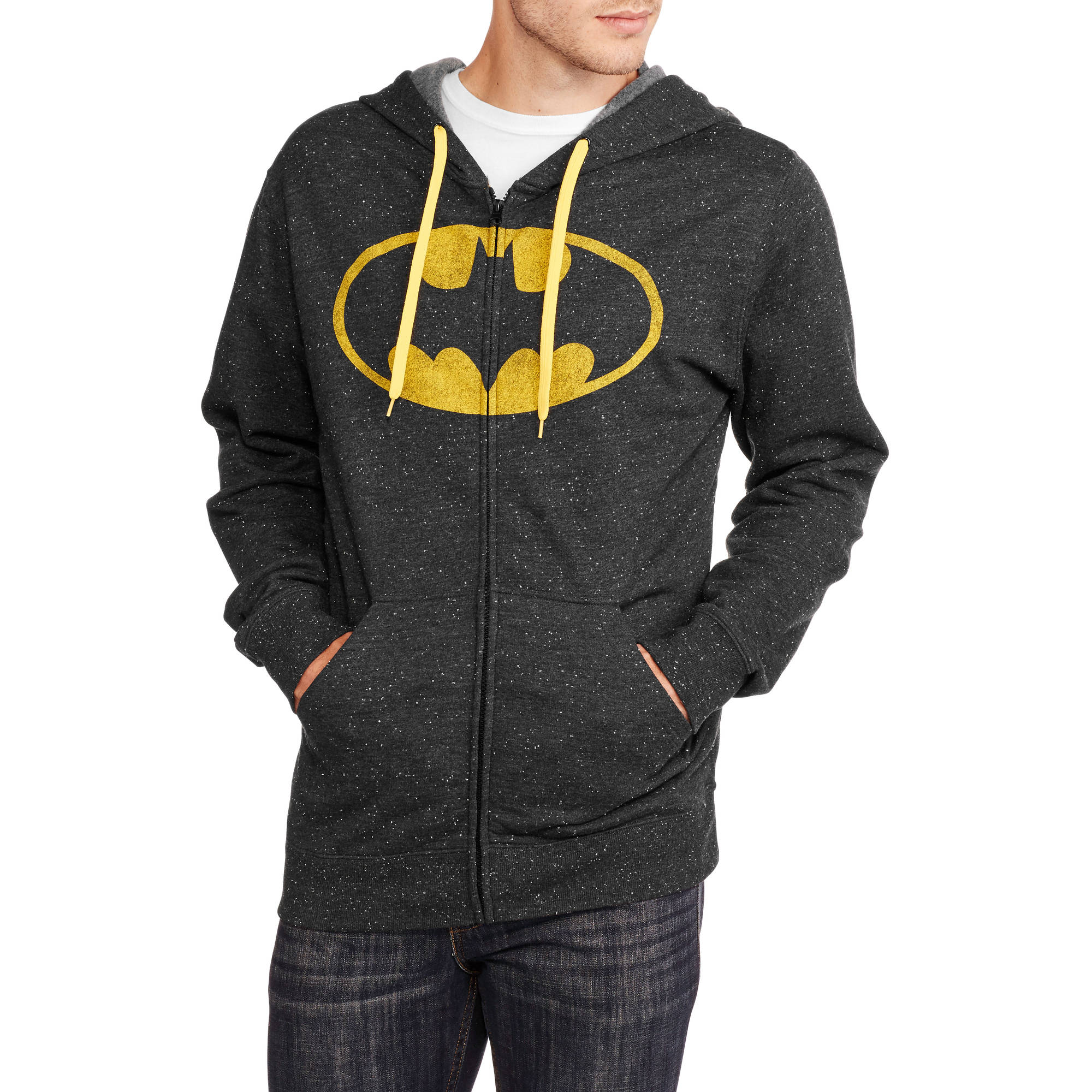 Batman Men's Zip Front Fleece Hoodie