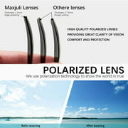 Polarized Sunglasses for Men and Women,UV Protection Rectangular Sun Glasses 8806 - image 5 of 6